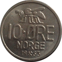 1963 Norweigian bee coin