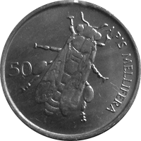 Slovenian bee coin